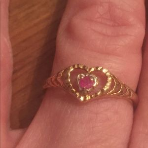 Jewelry - 10k Yellow Gold Ruby Ring